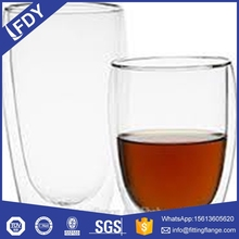 Double Wall Glass Cup Measuring Drinking Glass Cup Wholesale Cheap Glassware Cups