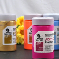 Hot sale! Gold supplier wall painting Non-toxic art Acrylic Paint 300ml per pot