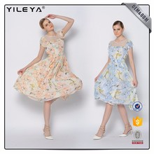 ODM Services Colorful Pattern Ladies Sexy Fat Women Dresses