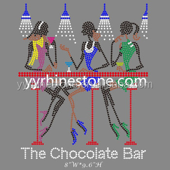 Girl's night out(chocolate bar)drink & wine Rhinestone Transfer