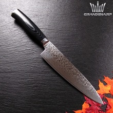 "Beautiful 8""Damascus steel chef knife double forged Micarta handle"