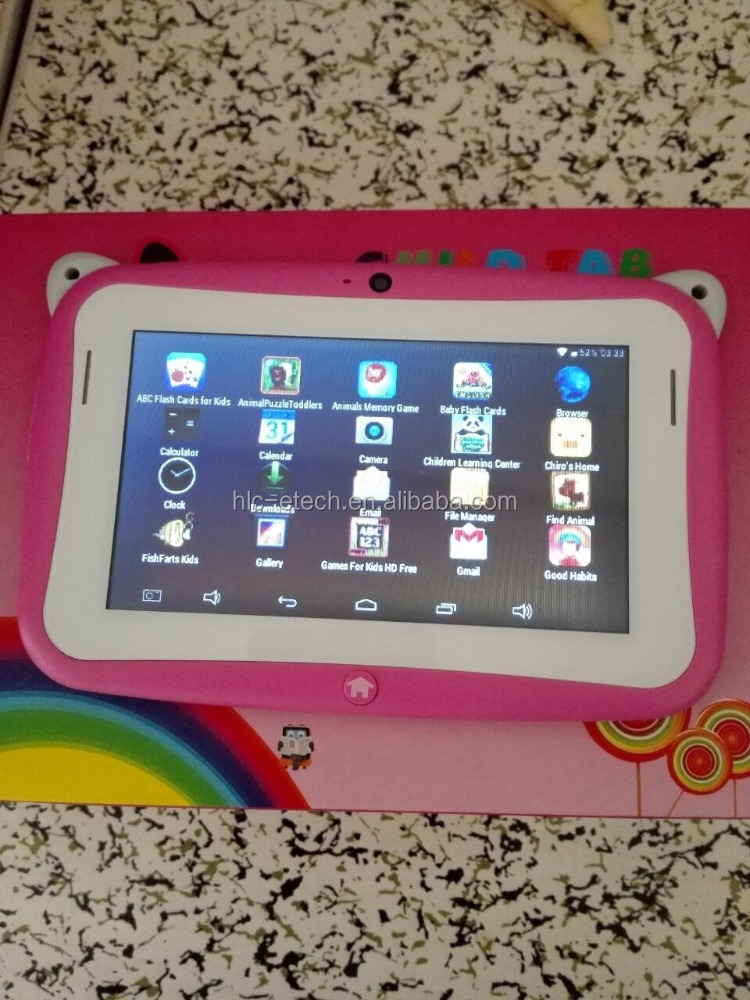 design lovely 4.3inch kids tablet pc with camera wifi build-in games/education apps android4.2