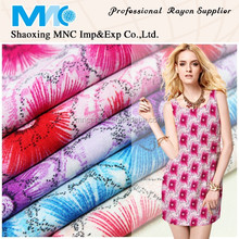 wholesale spun rayon screen printing fabric for t shirt