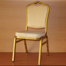 Gold upholstery fabric hotel banquet chair