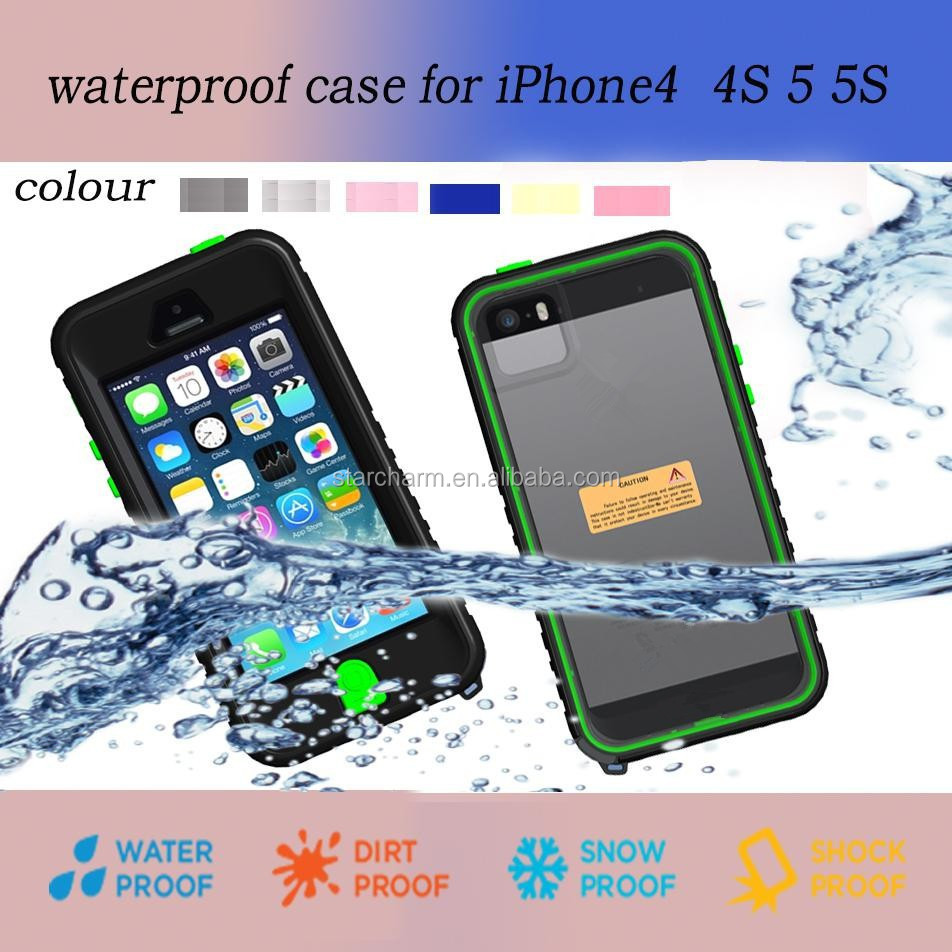 Factory wholesale shockproof for Iphone 5s waterproof case