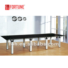 Colors optional round or rectangle glass top conference table