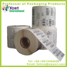 High quality factory direct printing number barcode label sticker