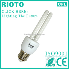 Brazil market 9W high quality self-ballast compact fluorescent lamp , energy saver,2700K CFL 8000H electric bulbs with CE ROHS