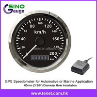 "GPS speedo 85mm, GPS odometer speedometer for marine automotive 3 3/8"" truck"