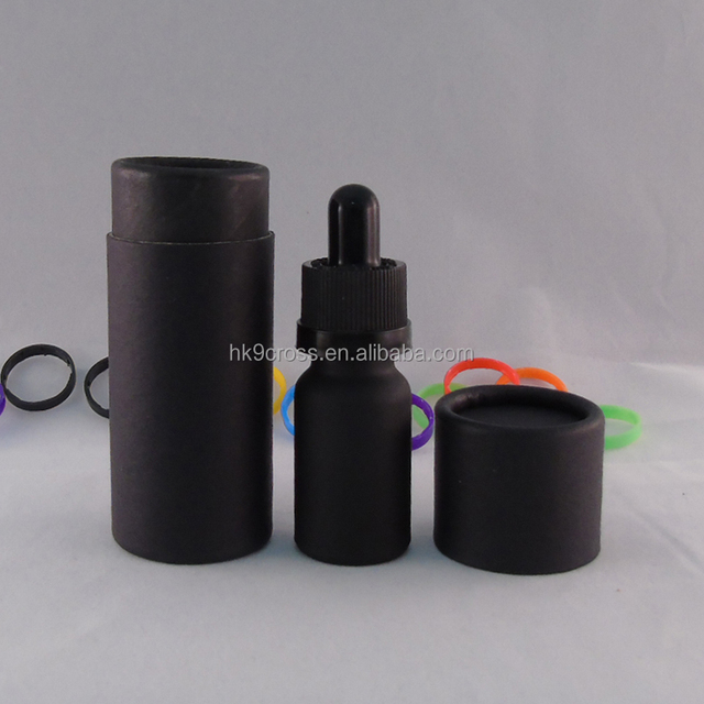 30ml glass dropper essential oil bottle with black paper tube package
