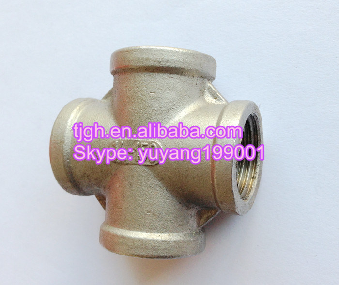 China Steel Threaded Cross pipe fitting (cs,ss,as)