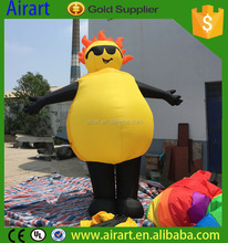 exhibition show inflatable sun cartoon for thanksgiving day