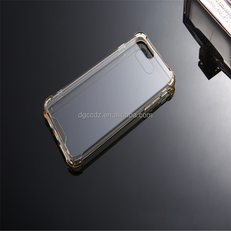 TPU Bumper with Crystal Clear PC Back Drop Protect Shock Absorption Technology case For iPhone 7 Plus