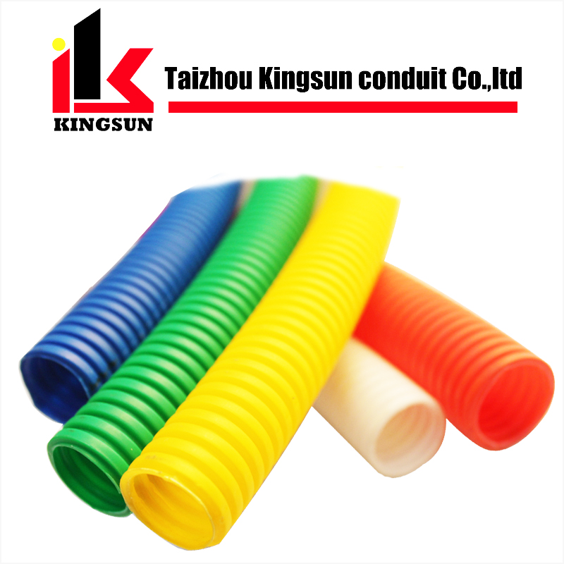 Color customized plastic corrugated flexible electrical pipe