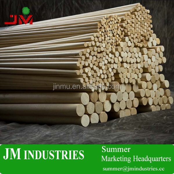 round wooden dowel and rods stick pole for building block manufacturer with FSC