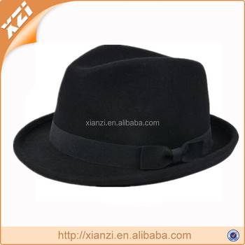 Plain Dyed Pattern and 100% Polyester Material blank fedora hat