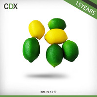 High quality plastic faux lemons plastic fruit and vegetables artificial fruit for home decoration