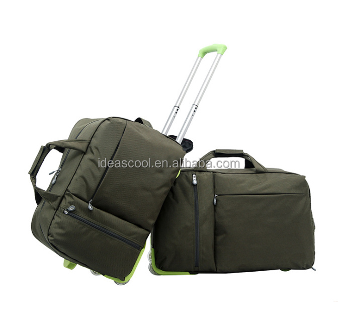 2 wheels small trolley bag smart travel bag