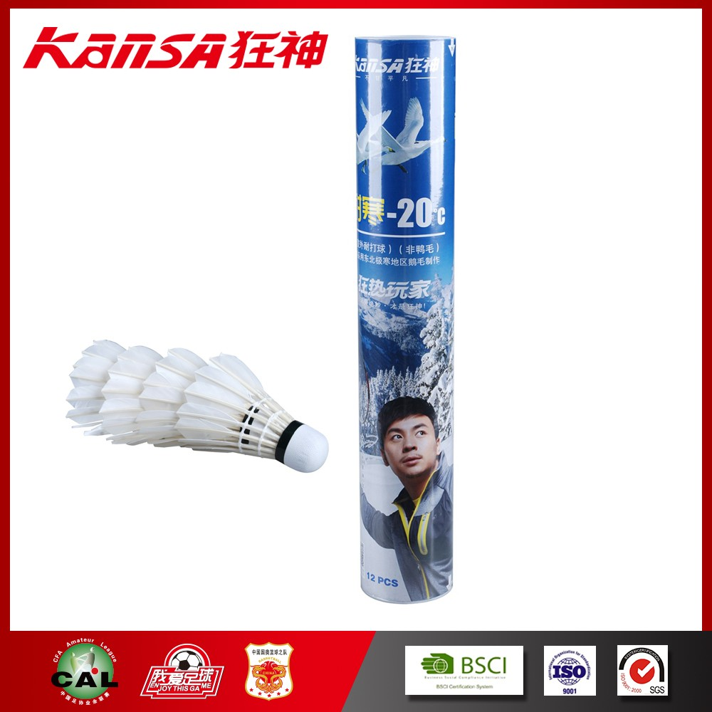 Kansa-5713 Feather Top Grade For Outdoor Uisng Winter Badminton Shuttlecock