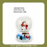 Christmas electric snow globes