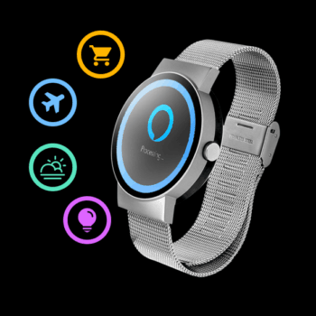 Wholesale in Amazon Indiegogo Smart watch with Alexa smart voice Waterproof IP65 pedometer Speed dial Bluetooth WiFi smart watch
