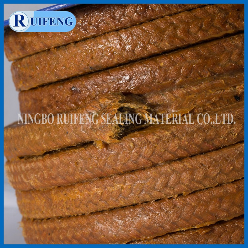 Yellow color for Cotton grease gland packing with oil