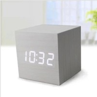 FREE FREIGHT wooden LED clock fashionable various design