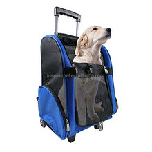 Pet Dog Cat-Wheel Luggage Backpack- Carrier Cute Cart Trolley Multi-Purpose Sliding Portable Bag walking pet carrier