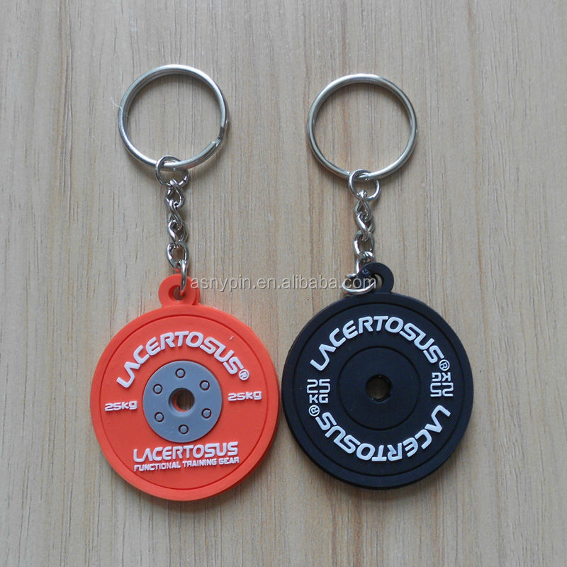 colorful tyre shaped soft pvc keychain