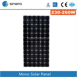 Made in China good price Mono 260w solar panel