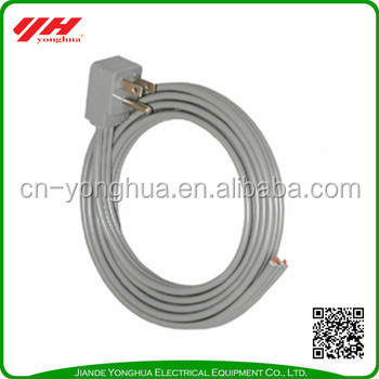 Zhejiang factory 15A right angle SPT-3 ac power supply cord