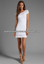 2013 new fashion Eyelet Jersey Cap Sleeve Shift Dress Bodycon Dress
