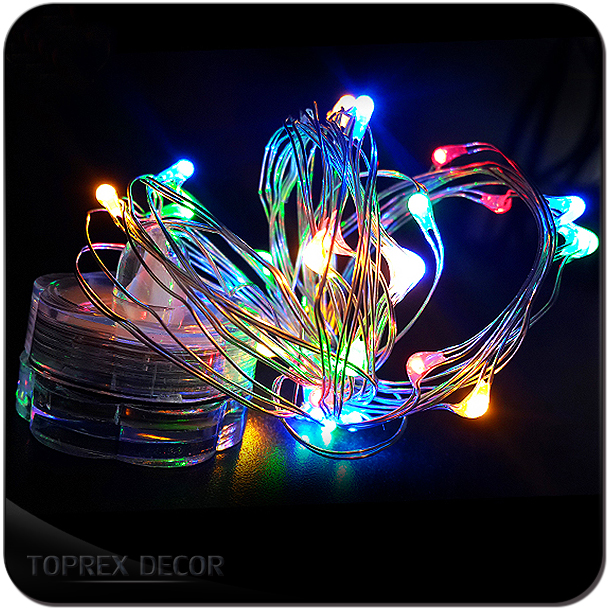Toprex home decor battery operated led christmas lights with timer
