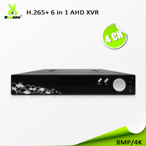 H.265 H.264 dvr firmware 4CH 3840*2160 CCTV Security 8 MP Standalone DVR 4K