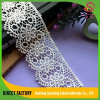 [NTSUNRISING]factory supply 4.5cm gold dentelle embroidery lace trim bandung for Garment,dress,home textile, evening dress