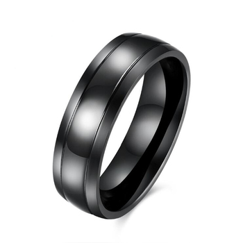 RI00216 Yiwu WT accessories wearer fashion with titanium steel plated black men ring jewelry