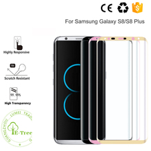 Best 3D Edge Curved Full Cover Protective 9H Tempered Glass Screen Protector For Samsung Galaxy S8 Plus