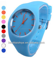 2012 fashion silicone jelly watches Japan movement and Japan battery 3 years warranty