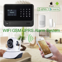 Hottest new GSM WIFI alarm system fashion design work with 100 pcs RF sockets intelligent home wireless alarm system