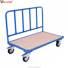 Good Quality heavy duty wooden platform trolley for warehouse