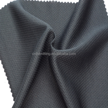 black 100% polyester T-Shirt fabric, jersey fabric for breathable basketballwear