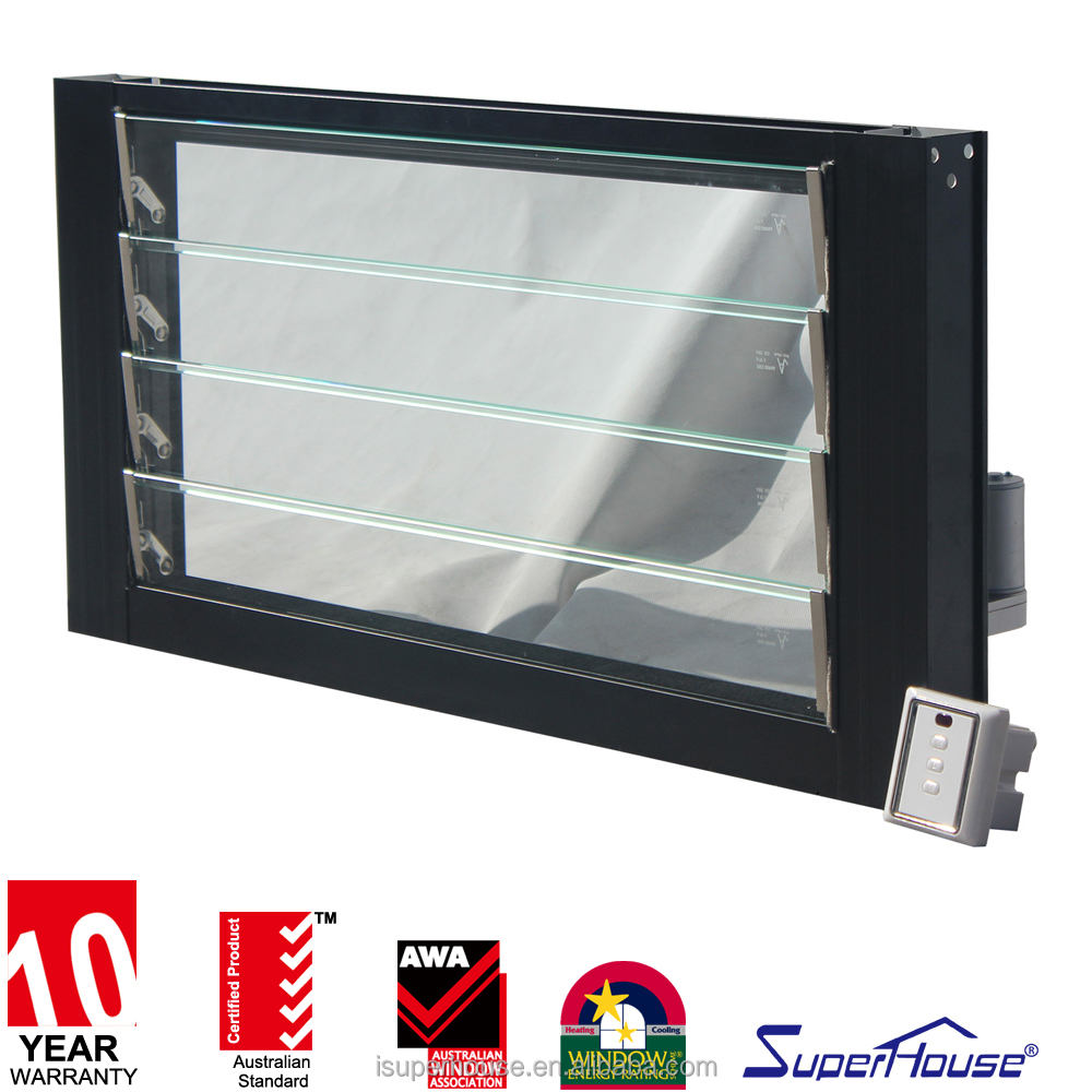 aluminium louvered windows electric automatic adjustable glass shutter window