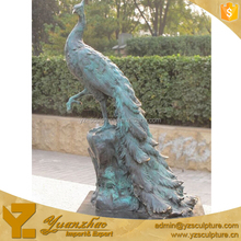 Brass Life Size Animal Statue of peacock for sale