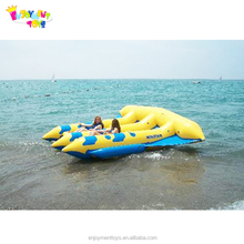 CE 0.9mm PVC Inflatable flying fish boat flying ski tube , Inflatable boat for sale EF-05
