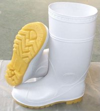 PVC white safety shoes for food industry
