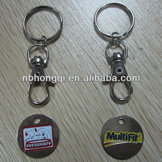 promotional item metal key chain with coin