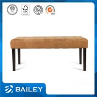 Various Design Furniture Supplier Upholstered Solid Oak Bench