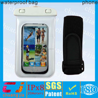 Sport armband waterproof cell phone dry bag for samsung galaxy s4/s5