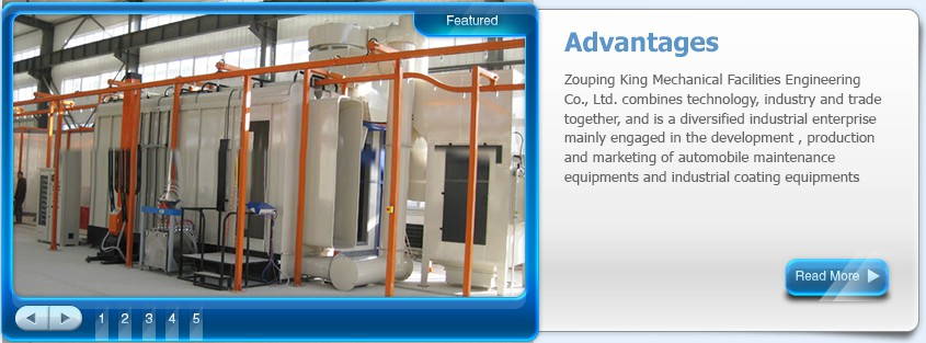 automatic steel plate powder coating production line system