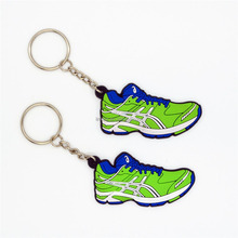 PVC sports running shoe keychain/basketball key chain